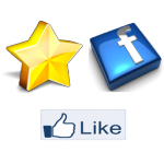 Product reviews with Facebook connect, like and twitter logo